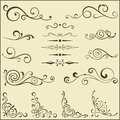 Set of swirl elements for design vector Stock Images