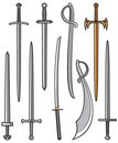 Set of swords and sabers Stock Photography