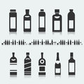 Set of symbols bottle alcohol Royalty Free Stock Photo