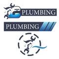 Set of symbols for plumbing repair
