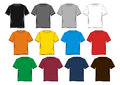 Set T-shirt blank colorful