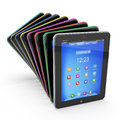 Set of tablet pcs colored Stock Images