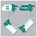 Set of tags and stickers with nice dog. Royalty Free Stock Images