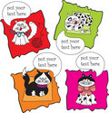 Set talk cats Stock Photo
