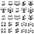 Set of talking icons Stock Photos