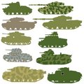 Set of tanks Stock Photography