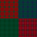 Set of tartan check backgrounds red plaid and pattern Royalty Free Stock Photos