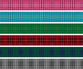 Set of tartan check lines red plaid and banners Stock Image