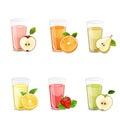Set of tasty fresh  juices. Royalty Free Stock Photo