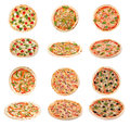 Set of tasty Italian pizza Royalty Free Stock Photo