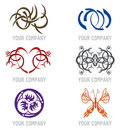 Set of Tattoo Icons for Logo Design Royalty Free Stock Image