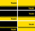 Set of taxi business cards simple modern Royalty Free Stock Photography