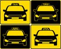 Set of taxi cars sign Stock Photos