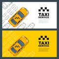 Set of taxi service banner, flyer, poster design template. Call taxi concept.