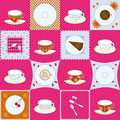 Set of tea cup design Royalty Free Stock Image