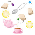 Set of tea icons Stock Photo
