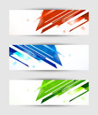 Set of tech banners abstract Stock Photos