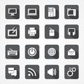 Set technology app mobile and computer icon Royalty Free Stock Photo