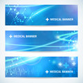 Set technology medical banner background for web or print
