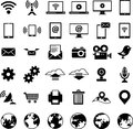 Set of technology web icons