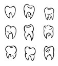 Set of teeth Royalty Free Stock Photos