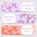 Set of template banners. Bright modern abstract design for your Royalty Free Stock Photo