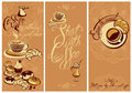 Set of Template Flayer or Menu design for coffeehouse. Royalty Free Stock Photo