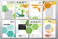 Set of templates for brochure, flyer or booklet. Abstract colorful business background, modern stylish hexagonal vector