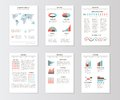 Set of templates for business brochures, web pages
