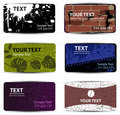 Set of templates for business cards Royalty Free Stock Image