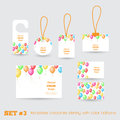 Set of templates corporate identity with color balloons for your design Royalty Free Stock Photography