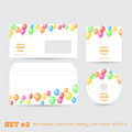 Set of templates corporate identity with color balloons for your design Royalty Free Stock Photo