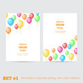Set of templates corporate identity with color balloons for your design Stock Photos