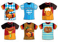 Set of templates Oktoberfest t-shirts for men and woman.