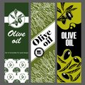 Set of templates for olive oil. Hand drawn illustrations.