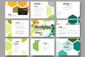Set of 9 templates for presentation slides. Abstract colorful business background, modern stylish vector texture Royalty Free Stock Photo