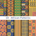 Set of ten african patterns vector Royalty Free Stock Photos