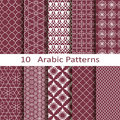Set of ten arabic patterns vector Royalty Free Stock Photography