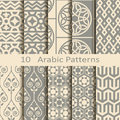 Set of ten arabic patterns vector Royalty Free Stock Images