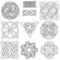 Set ten celtic designs ready to be coloured Stock Photo