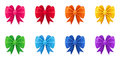 Set of ten colorful bows isolated on a white background Stock Image