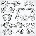 Set of ten ornate elements for design Royalty Free Stock Images
