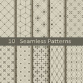 Set of ten seamless patterns vector Stock Photos