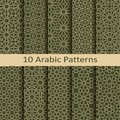 Set of ten seamless vector arabic traditional geometric patterns. design for covers, textile, packaging