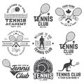 Tennis club. Vector illustration.