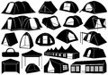 Set Of Tents Royalty Free Stock Photo