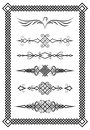 Set of text delimiters and decorative frame. Slavic patterns