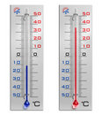 Set of thermometers Royalty Free Stock Photos