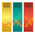 Set Of Three Colorful Abstract Vertical Banners.