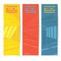 Set Of Three Colorful Abstract Vertical Banners. Royalty Free Stock Photo